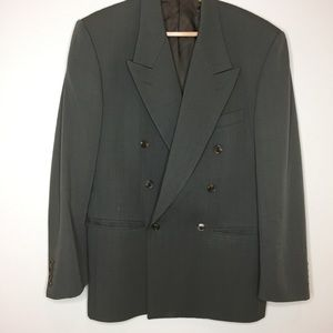 Tendenza wool blazer made in Italy vintage olive